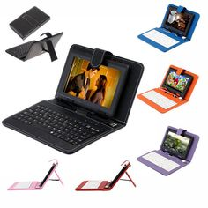"US Stock! iRulu Q88 7 inch Tablet PC Android Tablet PC 8GB A33 Quad Core 8GB 7"" Tablet PCs 7"" USB Keyboard Case"