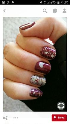 40 Gorgeous Fall Nail Art Ideas To Try This Fall Are you looking for fall nail designs 2018 that are excellent for fall? See our collection full of fall nail designs acrylic nails. Red Nail Art, Fall Nail Art, Red Nails, Matte Nails, Fall Nail Ideas Gel, Pink Nail, Brown Nails, Fall Nail Designs, Acrylic Nail Designs