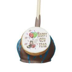 Happy New Year Balloon and Champagne Cake Pops Red Velvet Cake Pops, Gel Ice Packs, Champagne Cake, Holiday Boutique, Confectioners Glaze, Chocolate Liquor, Party Pops, Bite Size Desserts, Cream Cheese Icing