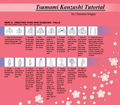 Kanzashi Tutorial - Part 6 by ~Kurokami-Kanzashi on deviantART