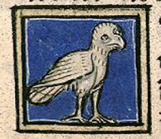 The kind of owl called nicticorax, the night raven. BN de France, lat. 14429, Folio 101r