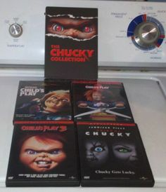 CHILDS PLAY & THE CHUCKY COLLECTION .. CHILDS PLAY 2 & 3 + BRIDE OF CHUCKY  DVDS