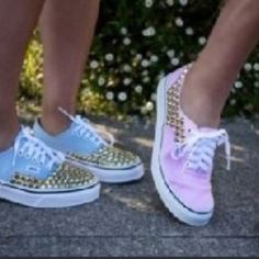 Bedazzle old tennis shoes