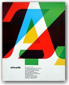 1964. Designed by Walter Ballmer. Olivetti Ad.
