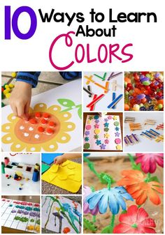 10 Ways to Learn about colors with your preschooler! So many hands-on activities for practicing color recognition!