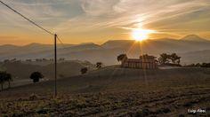 San Severino Marche - tramonto in colina