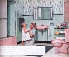 1000 Images About 1950s Bathrooms On Pinterest Art Deco Bathroom Retro Bathrooms And Blue