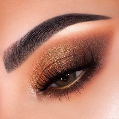 Bronze glitter eyes makeup ideas you will love Eye Makeup Cut Crease, Glitter Eye Makeup, Glam Makeup, Skin Makeup, Makeup Inspo, Eyeshadow Makeup, Makeup Inspiration, Beauty Makeup, Makeup Ideas