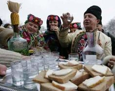 Christmas celebrations in Pirogovo Village, near Kiev in the Ukraine