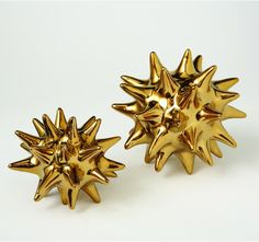 URCHIN OBJET-SHINY GOLD - Gold Decor - Decorative Accessories - Décor & Accessories | DwellStudio