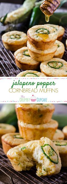 Kick up your cornbread game! These spicy, cheesy Jalapeno Popper Cornbread Muffins are the perfect side for fried chicken, chili, or just by themselves with a drizzle of honey! #SundaySupper