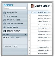 Task management tool for multiple users. Free up to 30 users.  Asana · Product Tour