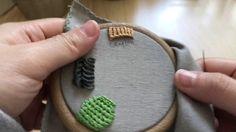 하우스오브지원의 프랑스 자수 - 루프드 블랭킷 스티치 looped blanket stitch embroidery