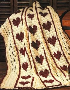 Crafts Large Hand-croched Fringe Afghan Pure And Mild Flavor Afghans & Throw Blankets