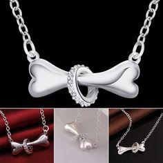 Dog Paw Necklace Dog Jewelry Dog Necklace Dog Bone Necklace pet necklace pet jewelry pet memorial Dog Paw Jewelry dog bone