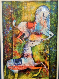 Jose Puig Marti Signed Lithograph, Dancing Horses 138/275 - pinned by pin4etsy.com