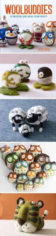All About Yarn | Woolbuddies: 20 irresistibly simple needle felting projects by Jackie Huang! | Cute!! | Pinterest | Needle Felting, Felting and Projects