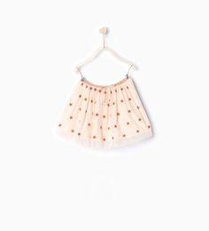 ZARA - NEW IN - Tulle embroidered skirt