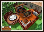 Ideas Small Patio Backyard Hot Tubs For 2019 Hot Tub Deck, Hot Tub Backyard, Backyard Playground, Hot Tub Gazebo, Playground Ideas, Design Patio, Backyard Patio Designs, Backyard Landscaping, Backyard Decks