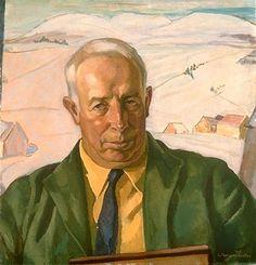 """Portrait of A.Y. Jackson"", 1936, by Lilias Torrance Newton (Canadian, 1896-1980)"