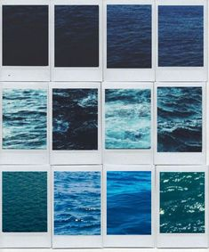 Polaroids of different oceans you've been in a frame
