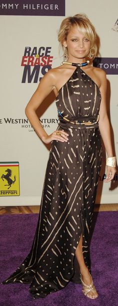 Nicole Richie's favorite dress of all time was this Costume National African-Print dress that she wore to the 12th annual Race to Erase MS event in 2005.