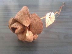TaTyArT - Rosa handmade in sughero