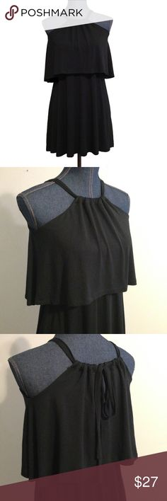 Tobi Halter Dress Soft cozy stretchable fabric. Ties in the back. See photos for measurements, measurements are approximate Tobi Dresses