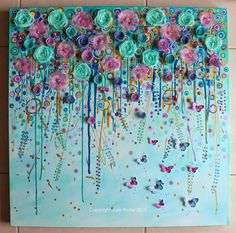 'Falling For You'....76x76cm mixed media on canvas....
