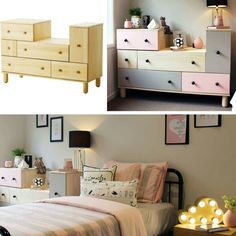 Ikeahack! Ikea ps 2012 chest of drawers transformation