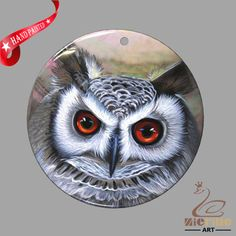 JEWELRY NECKLACE HAND PAINTED OWL SHELL PENDANT ZP30 01052 #ZL #PENDANT