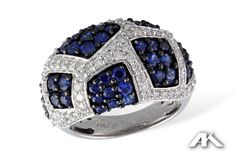 14kt blue and white diamonds from the Allison Kaufman Collection.