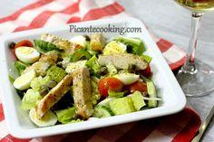 Мясо споджаренной корочкой, кисло-сладкий соус идеально окутывающий листья салата... Этот салат уже давно стал любимым умоих близких.