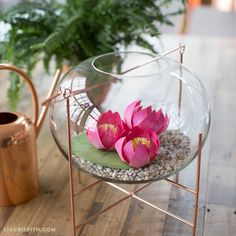 DIY Frosted Paper Lotus Flower -- PaperPapers Blog