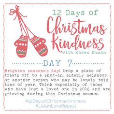 12 Days of Christmas Kindness - Day Seven