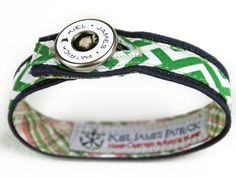 Such a cool website http://www.kieljamespatrick.com you choose your own nautical bracelet style, button, and it's made to your size for $35