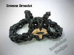 ▶ Tutorial on how to make a Batman Bracelet using a single Rainbow Loom - YouTube
