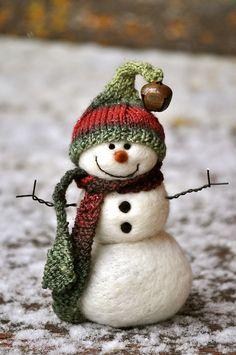 Faith Hope Love - bearcreekfelting: Needle Felted Snowman by...
