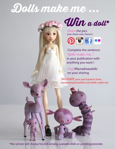 Dolls make me dream of magical places and endless possibilities #Nympheasdolls