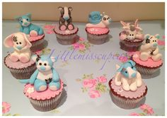 Tatty Teddy's blue nose friends cuppies, all handmade by me Littlemisscupcake,exmouth,Devon  find me on Facebook
