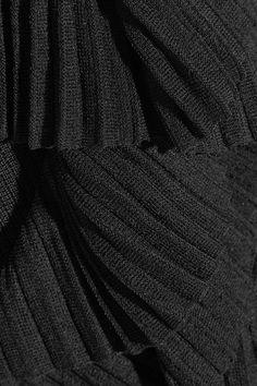 Givenchy - Ruffled Ribbed-knit Dress - Black - x small