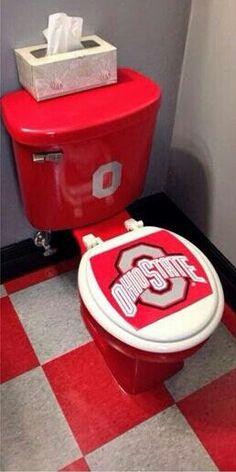 Ohio State Bathroom Idea