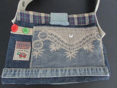 FAIT MAIN Bourse en jeans /HANDMADE Purse jeans by TICTAC1212