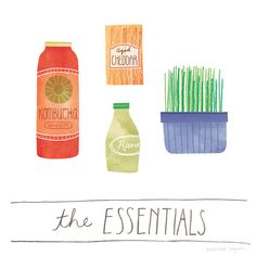 Illustrated Food Lists - Marisa Seguin Draws What People Consider to be Essential Groceries (GALLERY)