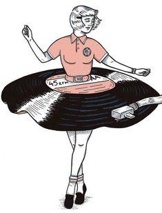 Bilder von Black Pencil Made in Notepad: Francisco Del Carpio - Wood Working Art And Illustration, Retro Illustrations, Kunst Inspo, Art Inspo, Arte Pop, Grafik Design, Art Drawings, Music Drawings, Illustrators