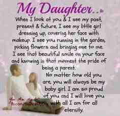 Love my daughter's