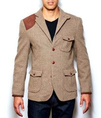 Firth of Forth Brown Herringbone Jacket - $299.00 [Boss as hell, kids.]