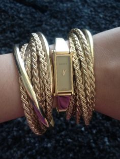 Arm party by Gucci.