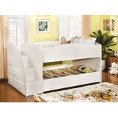Found it at Wayfair - Jamie Twin Over Twin Bunk Bed. So love this for the girls!