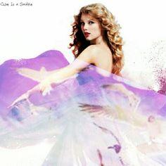 Taylor Swift Speak Now dress/ seagull background edited by Chloe Is a Swiftie
